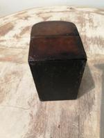 Miniature Leather Trunk Containing a Pair of Clear Glass Scent Bottles (3 of 5)