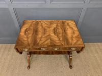 Good Burr Walnut Sofa Table c.1900 (3 of 19)