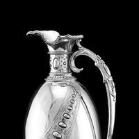 Antique Victorian Solid Silver Wine Ewer / Claret Jug - Barnard 1872 (6 of 19)