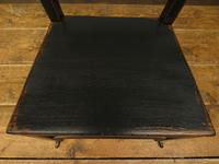Small Antique Wooden Black Painted Chair, Gothic Shabby Chic (5 of 13)