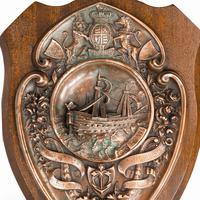 HMS Victory Centennial Copper Shield (3 of 5)
