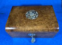 Victorian Walnut Jewellery Box with Inlay (12 of 15)
