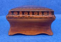 William IV Birch Penwork Jewellery Box (6 of 16)