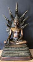 Large 1940's Brass  Buddhist Sculpture of Buddha