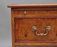 Pair of Mid 20th Century Burr Oak Bedside Chests (10 of 11)