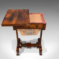 Antique Fold Over Games Table, English, Rosewood, Chess, Cards, Regency c.1820 (7 of 12)
