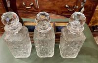 Polished Dark Honey-Oak Cased Three-Bottle Tantalus (2 of 5)
