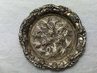 Early 20th Century Sheffield E.H.Parkin & Co Silver Plate Wine Coaster (5 of 9)
