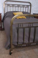 Fashionable simple French naturally aged brass kingsize bed (2 of 6)