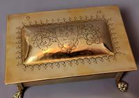 Antique Brass Tobacco Box, Heraldic (8 of 13)