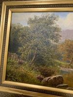 Antique Oil on Canvas of a Countryside Scene (9 of 9)
