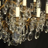 French Gilded Bronze 17 Light Antique Chandelier (3 of 10)