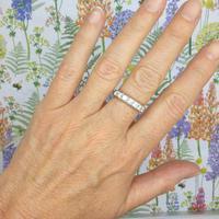 Vintage 18ct White Gold Seven Stone Diamond Half Eternity Wedding Band 0.85ct (7 of 9)