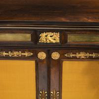 Pair of Regency Brass Inlaid Rosewood Side Cabinets (15 of 17)
