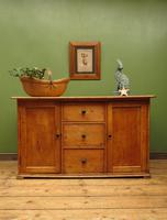 Victorian Rustic Antique Pine Sideboard Kitchen Unit (20 of 22)