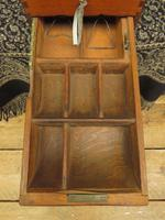 Antique Wooden Shop Till with Pull-out Drawer & Bell (7 of 14)