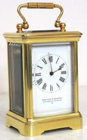Antique Miniature 8 Day Carriage Clock by Walters & George Regent Street Rare (11 of 14)