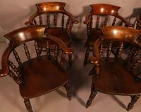 Harlequin Set of 6 Victorian Captains Chairs (5 of 10)