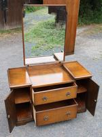 1940s Oak Dressing Table with Linen Fold Detail (2 of 4)