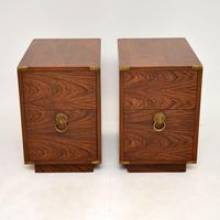 Pair of Military Campaign Style Rosewood Side Chests (2 of 10)