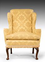 Walnut Framed Wing Chair of Small Proportions (3 of 6)