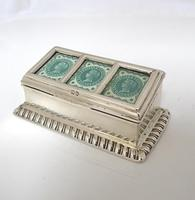 Victorian Silver Triple Stamp Box Henry Matthews Chester 1901 (4 of 6)