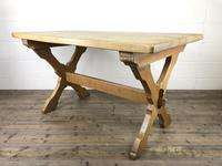 Solid Oak Table on X Frame Base (5 of 9)