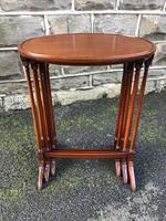 Antique Mahogany Nest of 3 Tables (3 of 7)