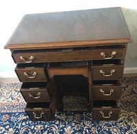 Victorian Mahogany Kneehole Campaign Desk (7 of 7)