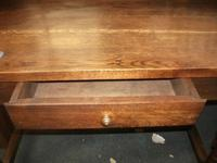 Solid Oak Bobbin Leg Table with Drawer (3 of 4)
