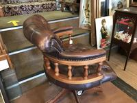 Swivel Leather Buttoned Desk Chair (9 of 10)