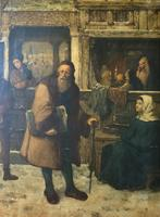 Substantial 19th Century Flemish Oil Painting of Locals in Brugge by Dumont (4 of 21)