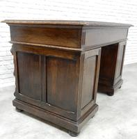 Small Carved Oak Green Man Desk (7 of 10)