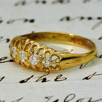 The Antique Edwardian Five Diamond Claw Set Ring (3 of 4)