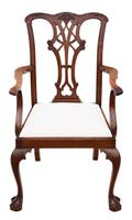 Set of 8 (6+2) mahogany dining chairs Georgian revival C1910 (9 of 11)