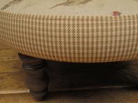 Voyage Maison Round Footstool, Game Bird Fabric (8 of 17)