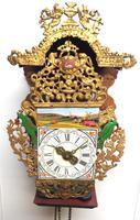 Wow! Antique 18th Century Dutch Stoelklok Wall Clock Verge Wall Clock (4 of 12)