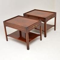 Pair of Georgian Style Mahogany Side Table c.1950s (4 of 12)