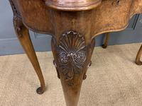 Serpentine Fronted Queen Anne Style Burr Walnut Side Table (13 of 16)