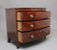 Early 19th Century Mahogany Bowfront Chest with Slide (6 of 12)