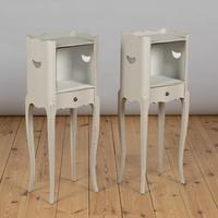 Pair of French Painted Bedside Cabinets Tables (3 of 5)