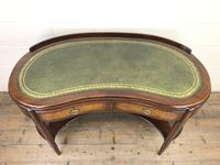 Kidney Shaped Writing Desk with Leather Top (3 of 9)