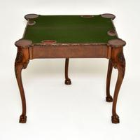 Antique Carved Walnut Card Table (7 of 10)