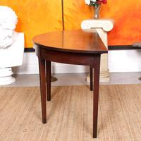 Georgian Demi Lune Console Table Mahogany Carved Hall Table (5 of 5)