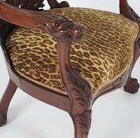 Mid-19th Century French Carved Walnut Desk Chair (11 of 12)
