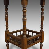 Antique Lamp Table, English, Walnut, Octagonal, Side, Games, Edwardian c.1910 (7 of 10)
