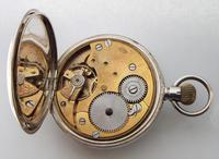 Antique Silver Buren Half Hunter Pocket Watch (6 of 6)