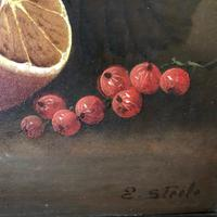 E Steele - Oil on Board - Still Life c.1900 (3 of 14)