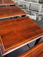 Edwardian  Inlaid Mahogany Nest 4 Tables (11 of 12)