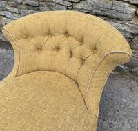 Small Antique Victorian Upholstered Salon Chair (13 of 17)